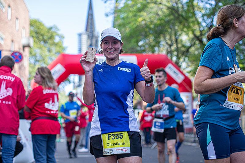 Strecke Köln Marathon 2021